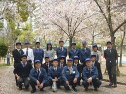 桜とクリーン運動.JPG